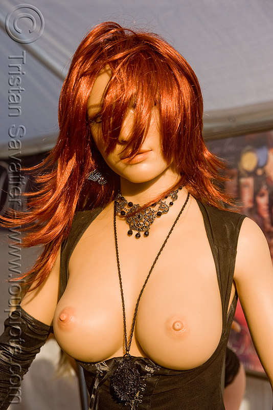 realistic silicone doll -  folsom street fair 2009 (san francisco), adult, ally, folsom street fair, lovable dolls, realistic, sex doll, silicone breasts, silicone doll, topless woman