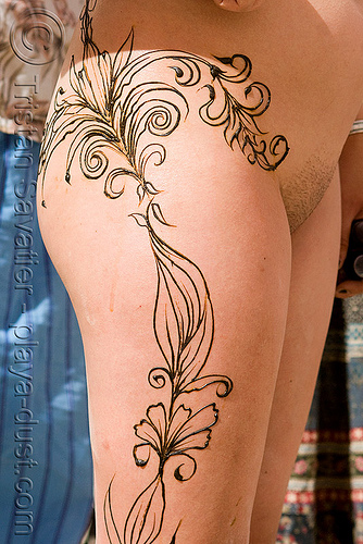 full body mehndi - henna tattoo - burning man 2008, body art, burning man, henna tattoo, mehndi designs, nude, temporary tattoo, woman