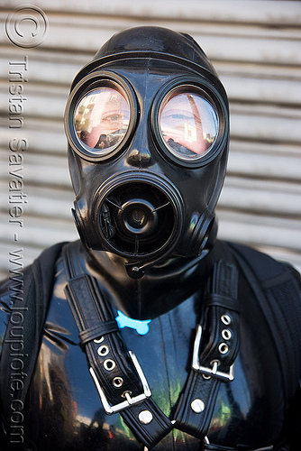 gas mask - dore alley fair (san francisco), bondage, dore alley fair, fetish, gas mask, man