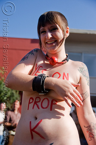 legalize prostitution - vote yes on prop. K - folsom street fair 2008 (san francisco), folsom street fair, legalize prostitution, proposition k, sex worker, woman, yes on prop k