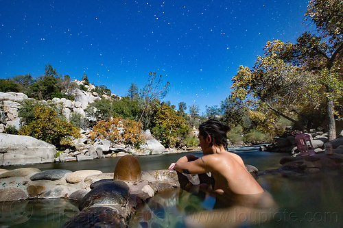remington hot springs (california), bathing, moonlight, night, pool, remington hot springs, soaking, stars, woman