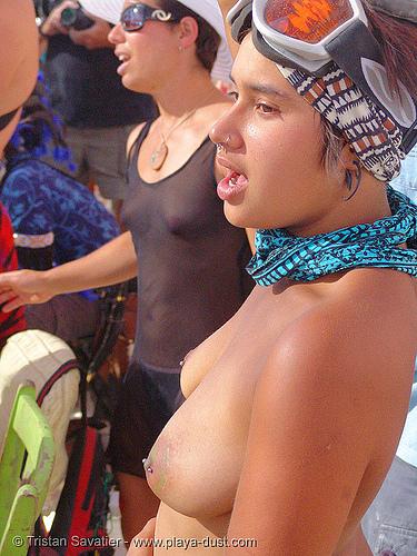 2793-burning-man-2005 - sol, breasts, burning man, center camp, solena, topless woman