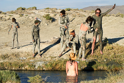 trego hot springs (black rock desert, nevada), mud bath, muddy, trego hot springs