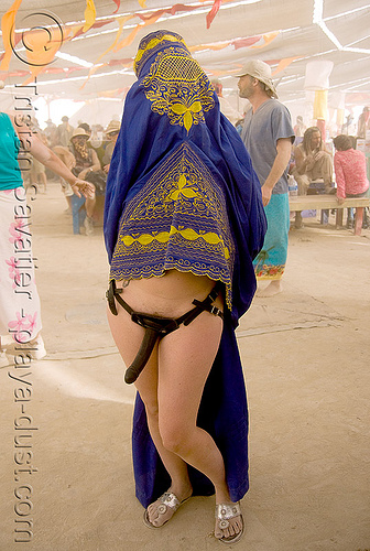 under the chadri (burqa) - چادر - برقع - قضيب, arabian, burka, burkha, burning man, burqa, center camp, chador, chadri, dildo harness, headgear, hijab, islam, islamic, muslim, sex toy, strap on, veil, woman, برقع, قضيب, چادر