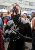 latex suit - bodysuit - dore alley fair (san francisco), black, bondage collar, bondage muzzle, costume, dore alley fair, fetish, latex bodysuit, suit