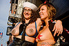 topless women with nipple pasties - folsom street fair 2009 (san francisco), bindis, breasts, folsom street fair, holly, jerry hand, karin sin, topless woman, women
