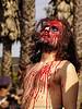 bloody man, bloody jesus, easter, fake blood, jesus christ, la pasión de cristo, makeup, man, red, sinnerjee, stage blood, synerjizm, the passion of christ, theatrical blood