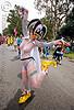 white fishnet bodysuit - carnival hat, ashly, bay to breakers, carnival hat, costume, festival, fishnet, footrace, street party, white, woman