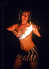 topless fire dancer, breasts, fire dancer, fire dancing, fire performer, fire spinning, fire wicks, flames, haley, necklaces, night, topless woman