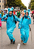 blue bears costumes - women, animal costumes, bay to breakers, blue, dancing, deena, festival, footrace, furry, fuzzy, jumpsuits, street party, two, women