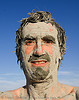 tristan savatier, black rock desert, man, mud bath, mud mask, muddy, self portrait, selfie, trego hot springs, tristan savatier